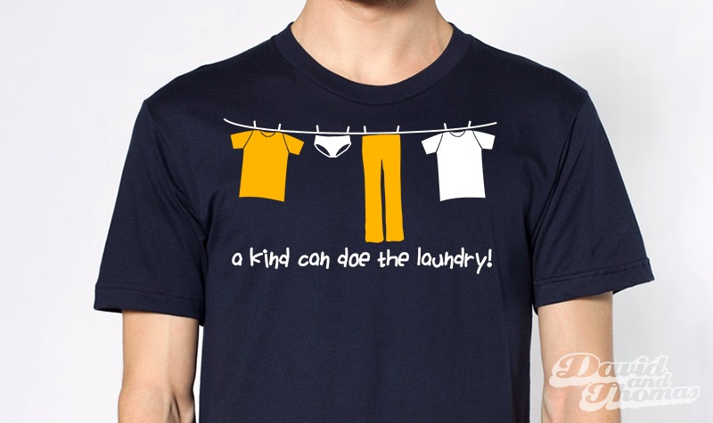 A kind can doe the laundry! - Een kind kan de was doen!